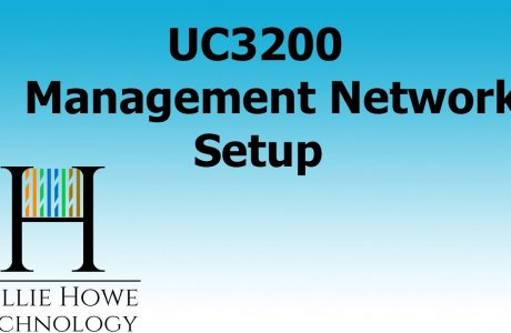 SYNOLOGY UC3200 MANAGEMENT NETWORK HIGH AVAILABILITY SETUP